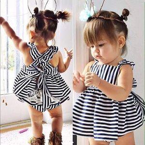 Other - Boutique navy blue striped dress set